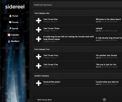 MyBB Theme: Sidereel - Premium MyBB theme - by ThemeFreak