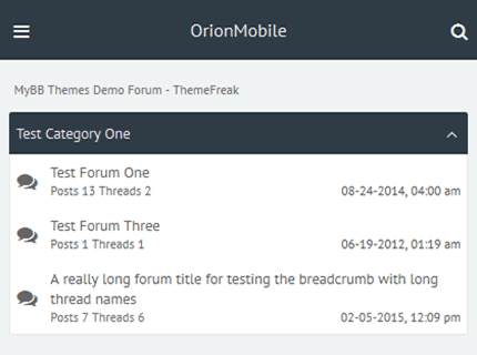 orionmobile theme